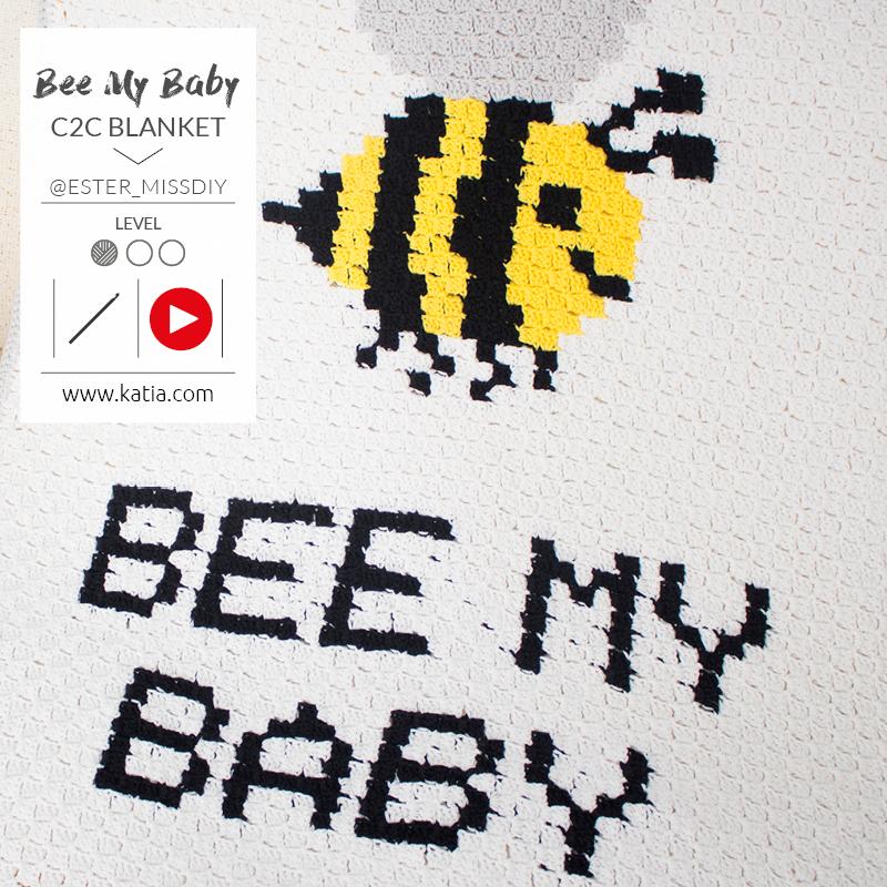 Bee My Baby deken - C2C haakpatroon en uitleg
