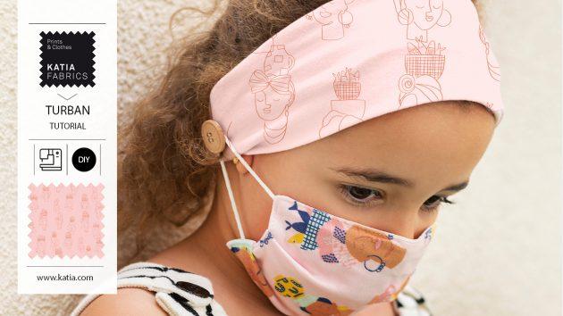 Naai een hoofdband met knopen - comfortabel mondkapjes dragen in de zomer