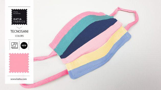 Regenboogmasker 🌈 naaien met onze nieuwe antibacteriële poplin