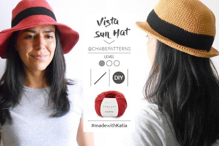 Bucket Hat zomerhoed haken - gratis haakpatroon door Chabepatterns met Katia Duomo
