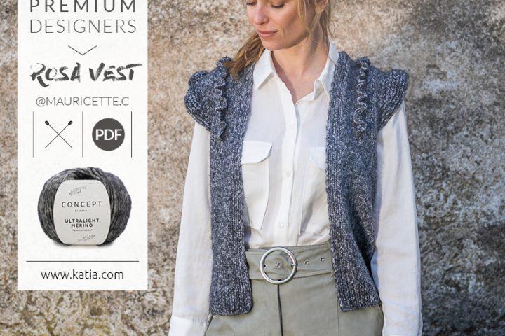 Rosa Vest breipatroon door @Mauricette.c - Katia Premium Designers