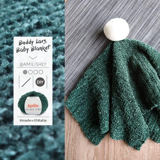Baby knuffeldoekje voor beginners door Amilishly met Katia Velvet Fine - gratis haakpatroon