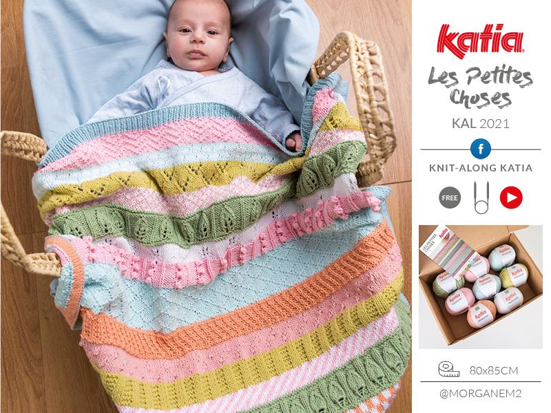 Les Petites Choses KAL: brei deze schattige babydeken met ons in onze Knit-Along Katia Facebookgroep