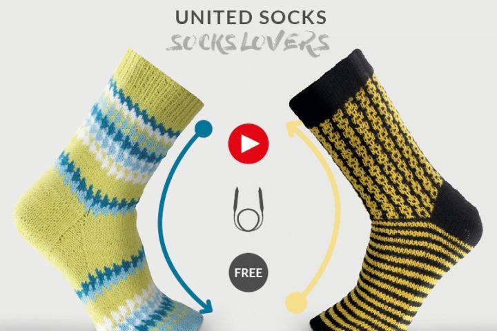 Leer sokken breien met de magische lus en onze gratis video tutorials en breipatronen