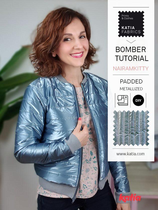 Leer een bomberjack naaien met onze metallic stoffen + video tutorial van Katia Fabrics