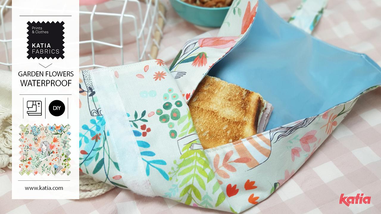 Leer een herbruikbaar boterhamzakje naaien met de nieuwe voedselplastic stoffen van Katia Fabrics