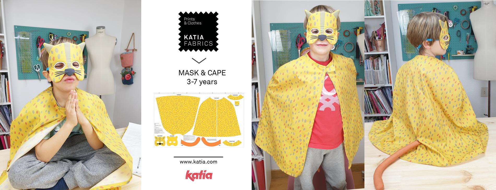 Luipaardkostuum naaien voor kinderen met Katia Fabrics kant en klare panelen