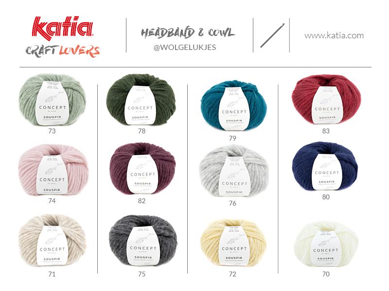 Leer een haarband en sjaal met kabel haken met Katia Souspir en het gratis haakpatroon van Linda Daas / @wolgelukjes