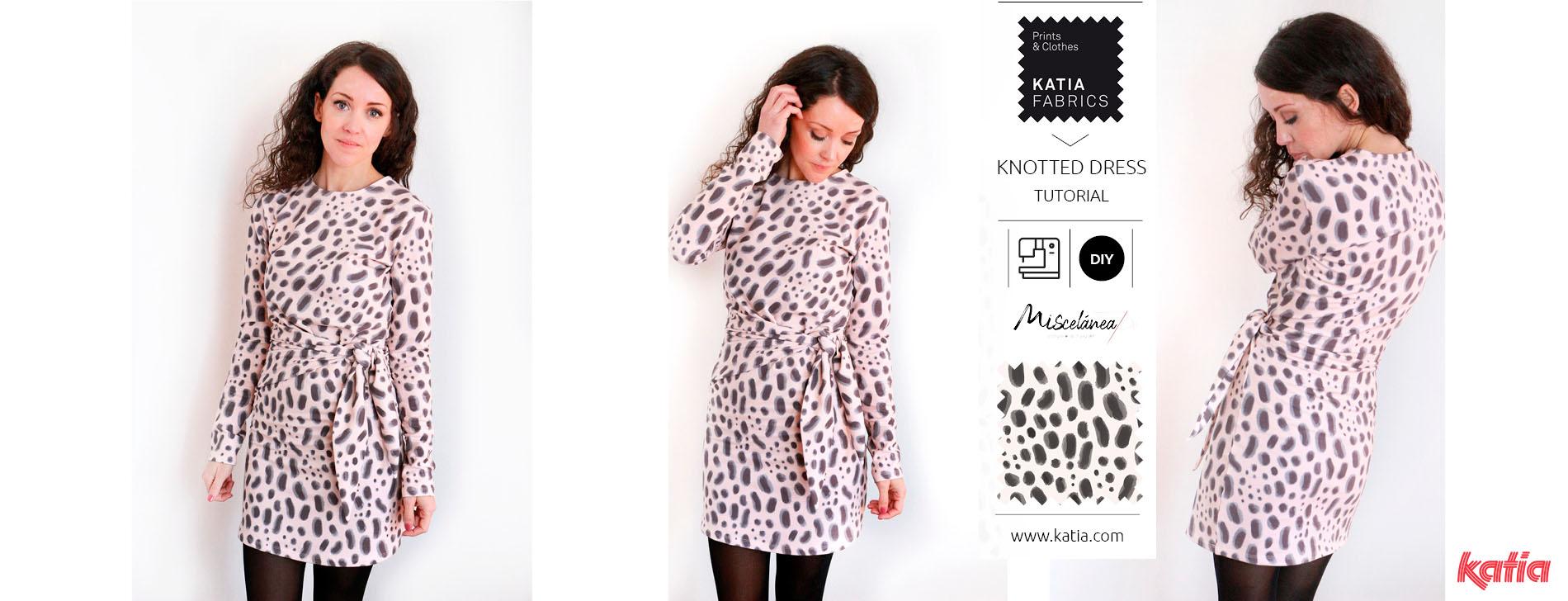 Geknoopte jurk met Katia Fabrics - gratis naaipatroon en video tutorial