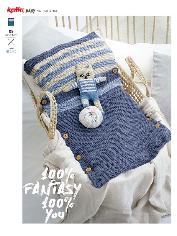 Ontdek 7 eenvoudige breipatronen voor zomerse babykleding in Katia Magazine Baby 96