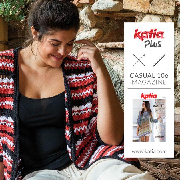 12 plus size haak- en breipatronen voor de zomer in Katia magazine Casual 106