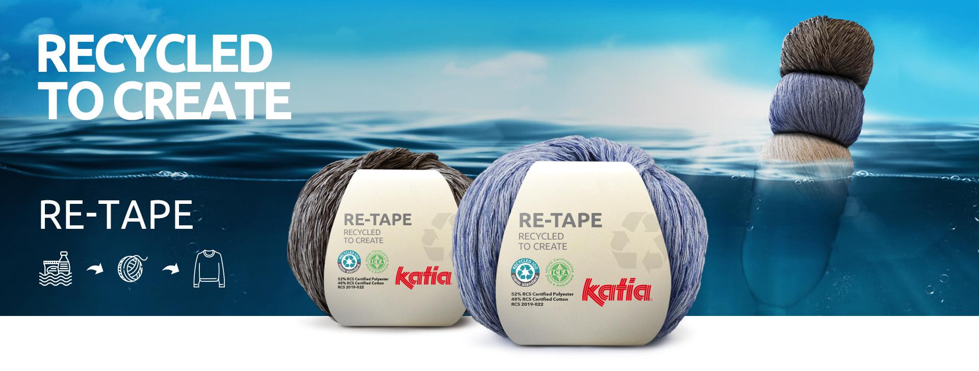 Re-tape recycled garen