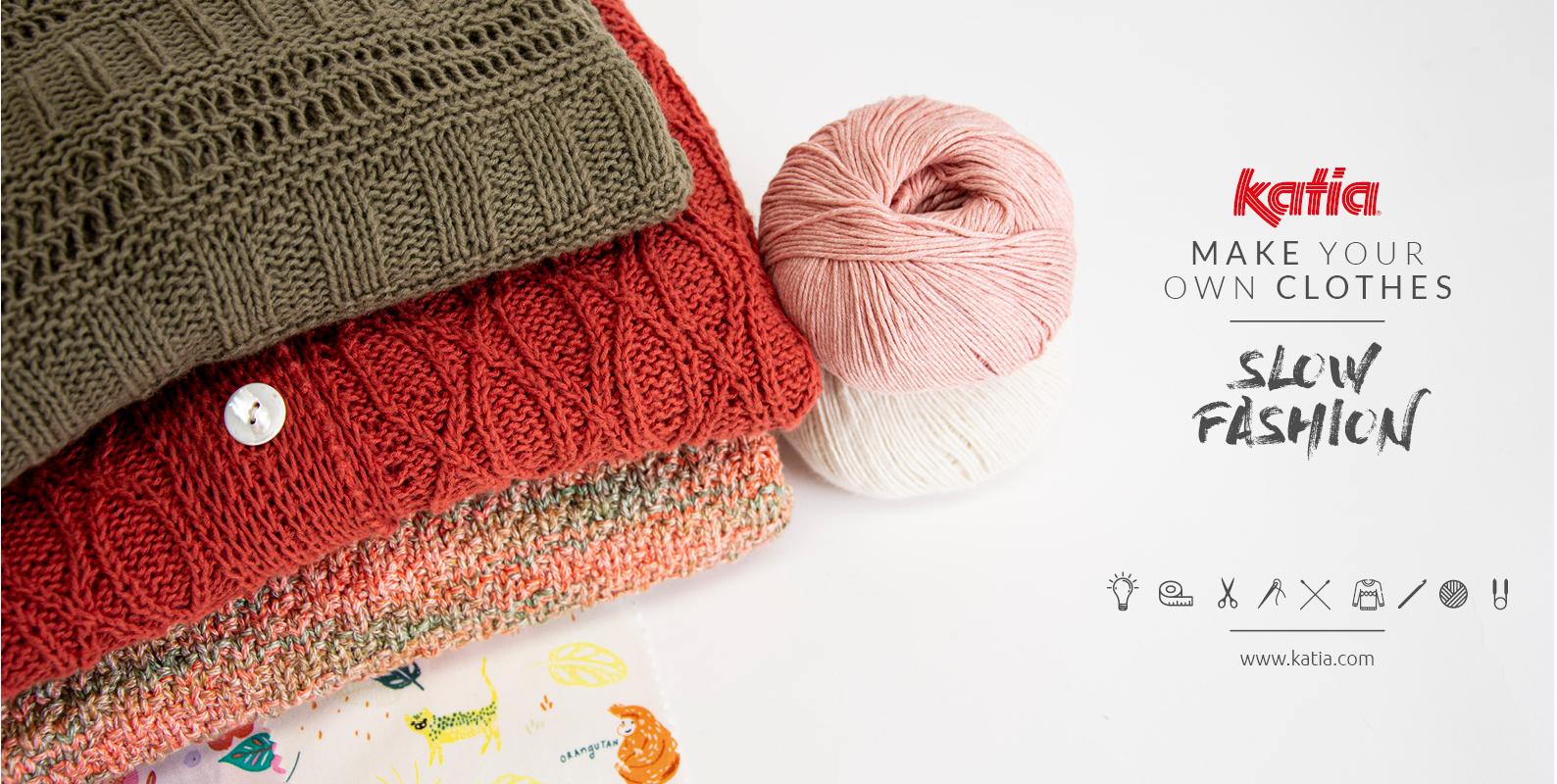 5 redenen om je eigen duurzame kleding te breien, haken of naaien: betere kwaliteit, maatwerk, milieuvriendelijke garens, upcycling...
