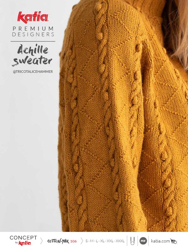 Premium Design by Alice Hammer: Achille trui breipatroon