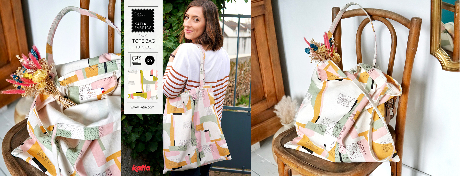 Leer een tas met binnenzak naaien met deze gratis foto tutorial van Clémence van Huguette Paillettes