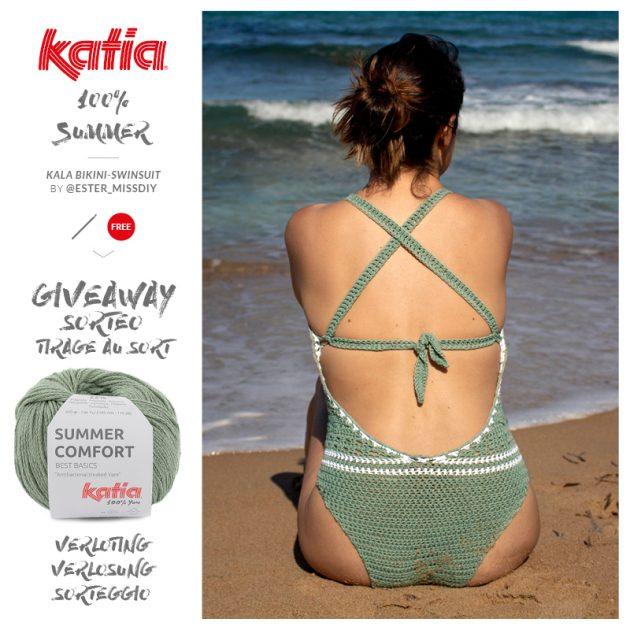 Gehaakte bikini en gehaakt badpak MissDIY met Katia Summer Comfort