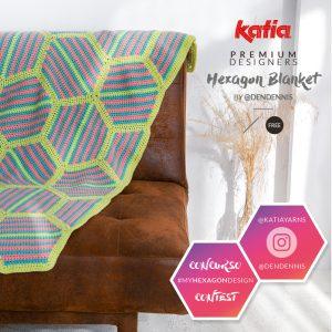 Hexagon deken haken met Katia Alabama door Dendennis