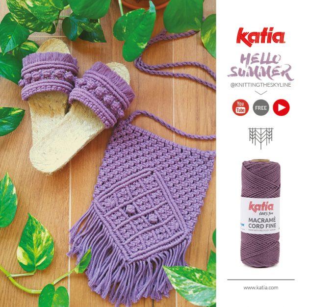 Je eigen macramé sandalen knopen - gratis tutorial door @knittingtheskyline