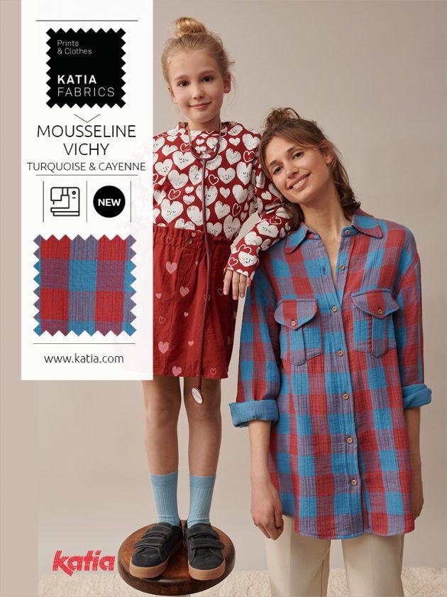 37 patronen in Katia Fabrics miniME naaimagazine herfst/winter 2021/2022