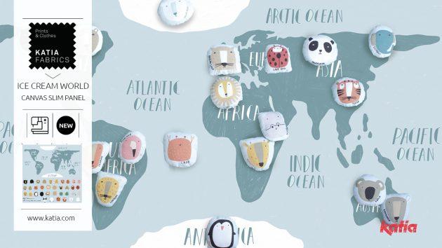 Wereldkaart voor kinderen naaien - naaitutorial met video tutorial
