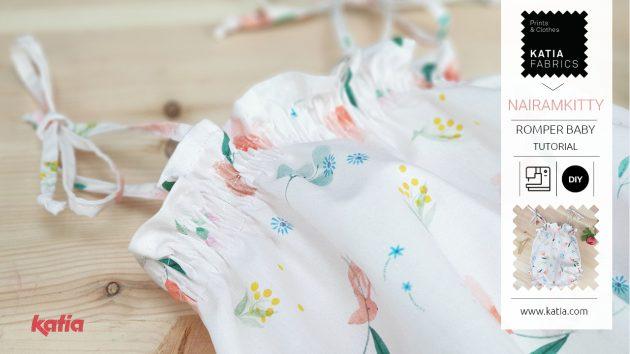 Leer een babyromper naaien met Katia Fabrics en onze video - smokken/rimpelen naaitechniek