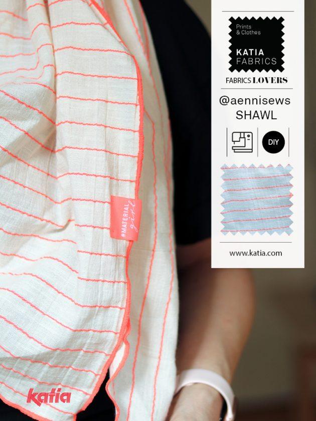 Leer een stoffen sjaal naaien met katia fabrics