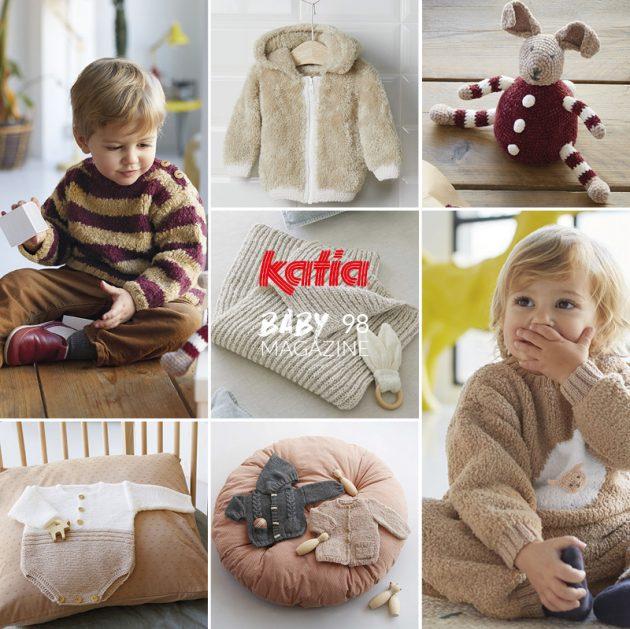 42 breipatronen voor je baby in het nieuwe Katia Baby 98 tijdschrift