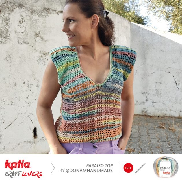 Gehaakte top Paraiso door Dona M Handmade - gratis haakpatroon