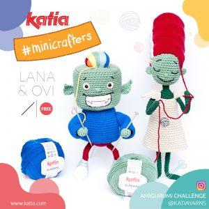 Amigurumi Challenge met Lana & Ovi, Katia's Minicrafters die alles kunnen breien wat ze willen.