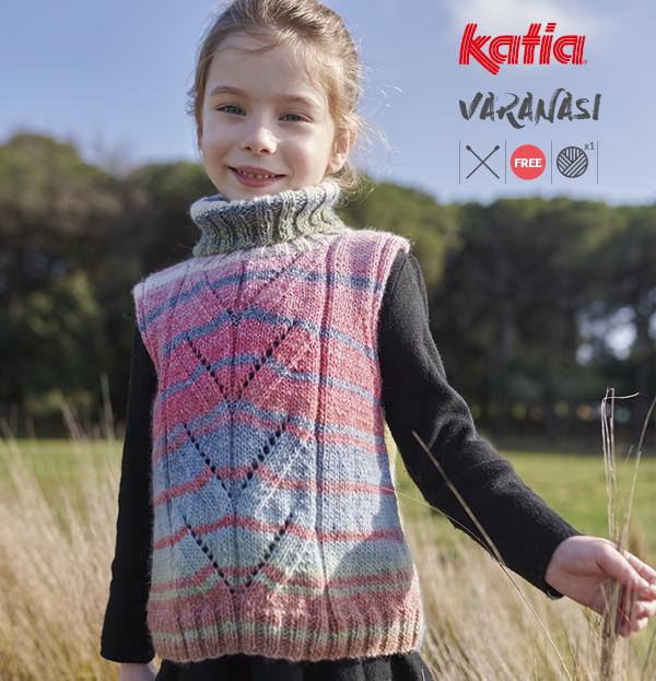 Gratis breipatroon voor kinderen: winterse mouwloze trui