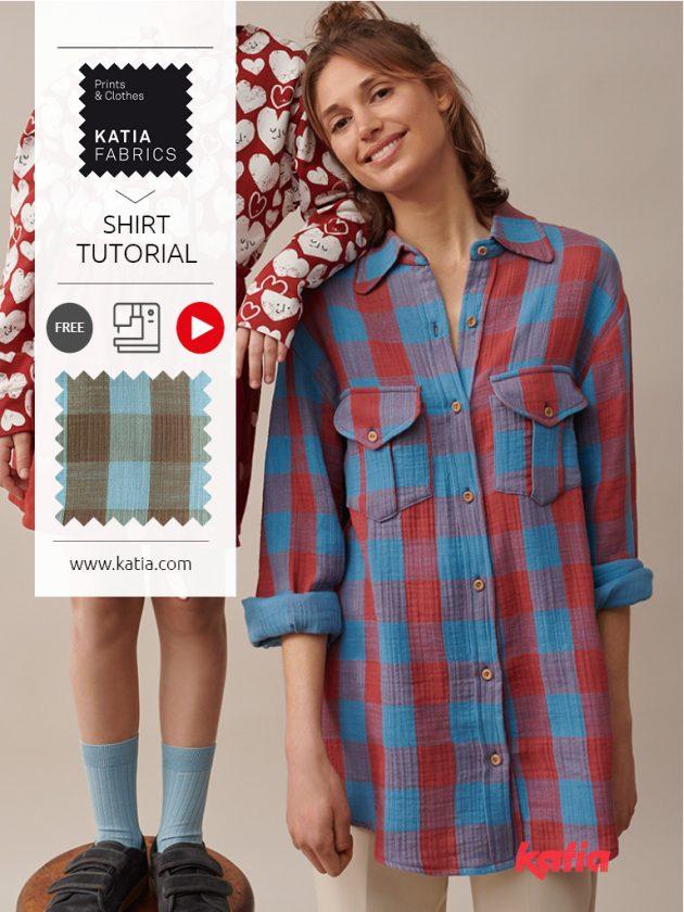 Lumberjack overhemd naaien met Katia Fabrics en Marian van Nairamkitty
