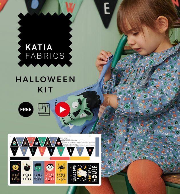 Vier Halloween en decoreer met ons spookachtige naaipaneel - Katia Fabrics Halloween kit