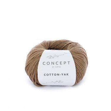 yarn wool cottonyak knit cotton wool yak brown all katia 102 p