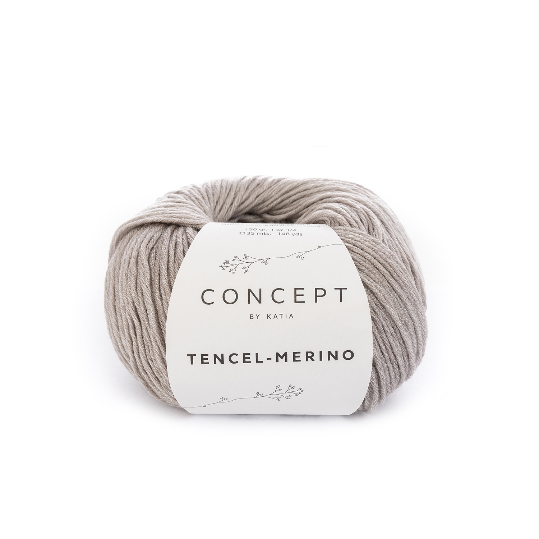 2beb422ae70 yarn wool tencelmerino knit lyocell virgin wool beige autumn winter katia  51 g