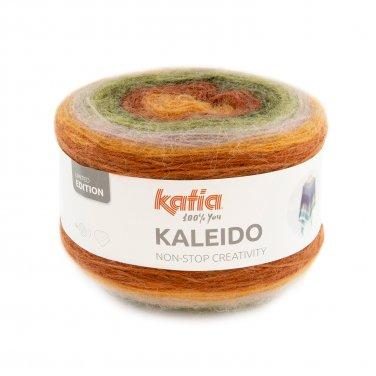 garn wolle kaleido stricken polyacryl mohair polyamid khaki orange hellrosa herbst winter katia 309 p