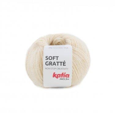 garn wolle softgratte stricken polyacryl polyamid hellelfenbein herbst winter katia 70 p