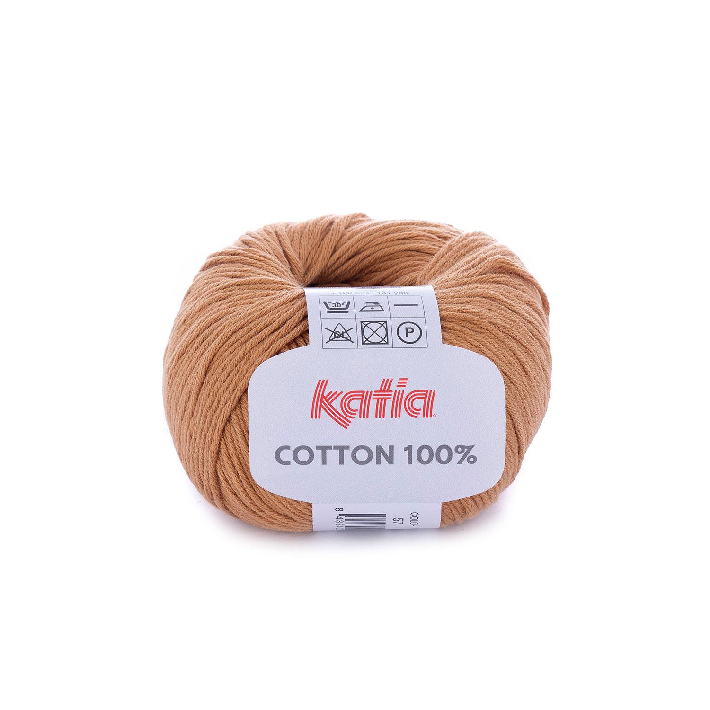 e70d90ac9ec laine fil cotton100 tricoter coton marron clair printemps ete katia 57 g