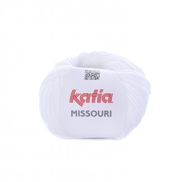 laine fil missouri tricoter coton acrylique blanc printemps ete katia 1 p