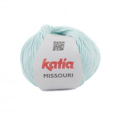 laine fil missouri tricoter coton acrylique bleu ciel clair printemps ete katia 54 p