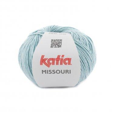 laine fil missouri tricoter coton acrylique bleu distant printemps ete katia 55 p