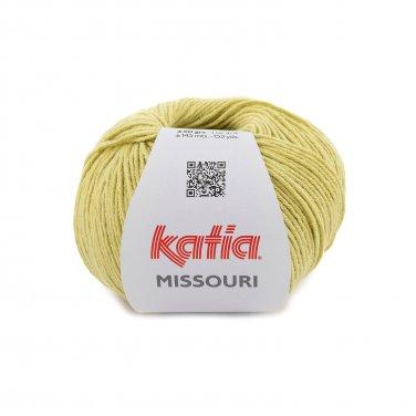 laine fil missouri tricoter coton acrylique jaune citron printemps ete katia 52 p
