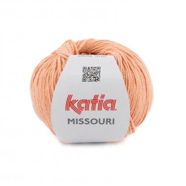 laine fil missouri tricoter coton acrylique orange pastel printemps ete katia 50 p