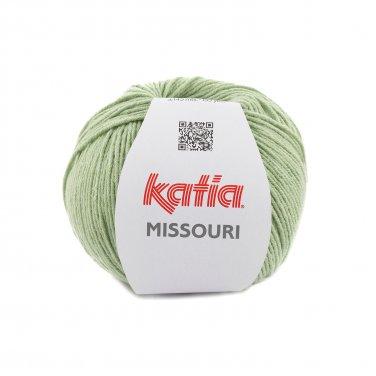 laine fil missouri tricoter coton acrylique vert menthe printemps ete katia 53 p