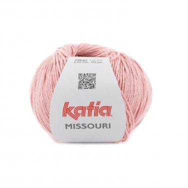 laine fil missouri tricoter coton acrylique vieux rose printemps ete katia 56 p