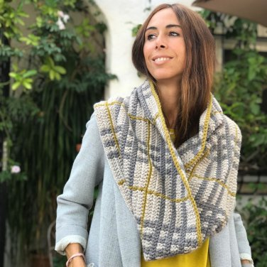 pattern knit crochet woman cowl autumn winter katia 5001 14 p