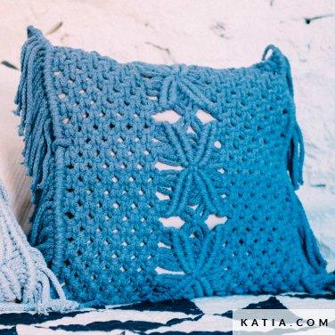 pattern knit crochet home cushion spring summer katia 5002 5 p