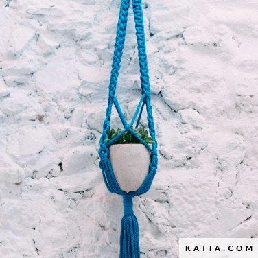 pattern knit crochet home flowerpot spring summer katia 5002 1 p