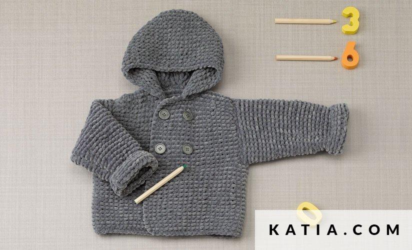 Bedwelming Jas - Baby - Herfst / Winter - modellen & patronen | Katia.com @JL85
