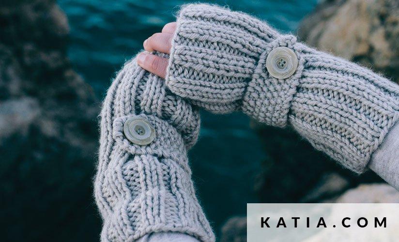 Fingerless Mittens Woman Autumn Winter Models Katia