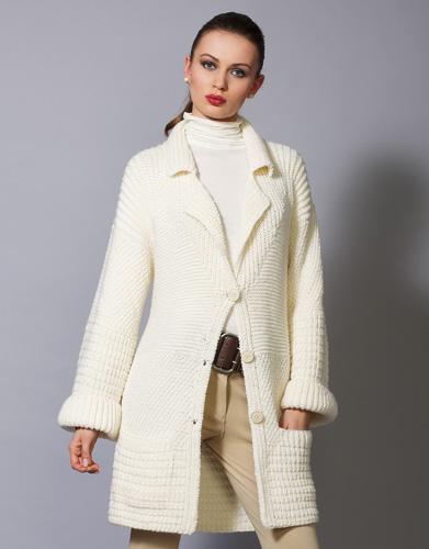 Modele de manteau au tricot pour femme